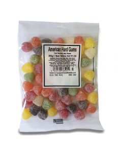 A full case of wholesale sweets, American Hard Gums bumper bags, prepacked sweets bags