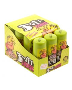 A full case of Wholesale sweets - Brain Licker sour rolling candy tubs