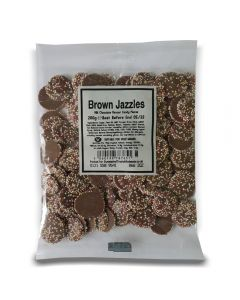 A full case of wholesale sweets, Brown Jazzles bumper bags, prepacked sweets bags