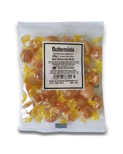 A full case of wholesale sweets, Buttermints bumper bags, prepacked sweets bags