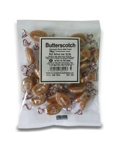 A full case of wholesale sweets, Butterscotch bumper bags, prepacked sweets bags.