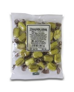 A full case of wholesale sweets, Chocolate Limes bumper bags, prepacked sweets bags