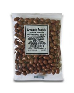 A full case of wholesale sweets, Chocolate Peanuts bumper bags, prepacked sweets bags