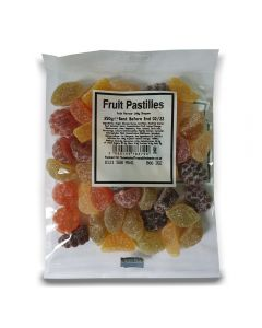 A full case of wholesale sweets, Fruit Pastilles bumper bags, prepacked sweets bags.