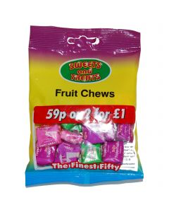 Fruit Chews 75g Bagged 2 for a £1 (24 Bags)
