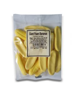 A full case of wholesale sweets, Giant Foam Bananas bumper bags, prepacked sweets bags.
