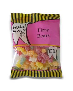 A full case of wholesale sweets, Halal Fizzy bears prepacked sweets bags