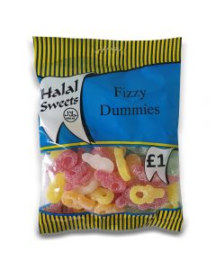 A full case of wholesale sweets, Halal Fizzy Dummies prepacked sweets bags