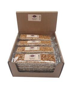 A wholesale case of crunchy peanut brittle bars