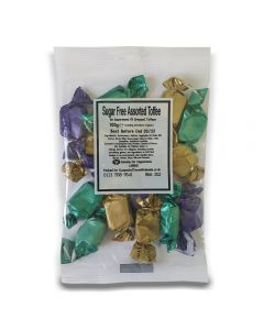 A full case of wholesale sweets, Sugar Free Assorted Toffee bumper bags, prepacked sweets bags