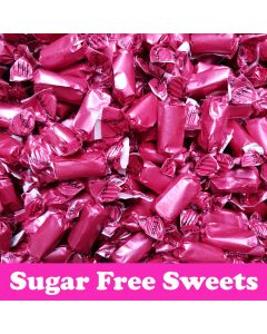 A bulk 2kg bag of sugar free rum and butter toffee sweets