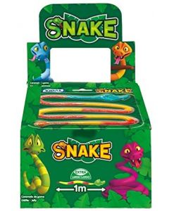 A wholesale case of giant jelly snake sweets