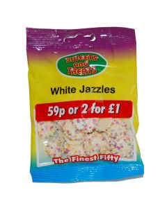 White Jazzles 75g Bagged 2 for a £1 (24 Bags)