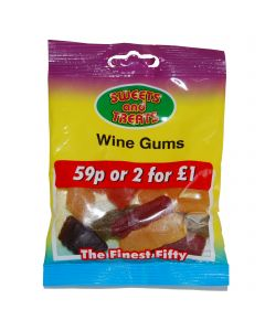 Wine Gums 75g Bagged 2 for a £1 (24 Bags)